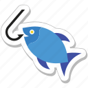 fish, fish rod, fishing, hook, seafood icon