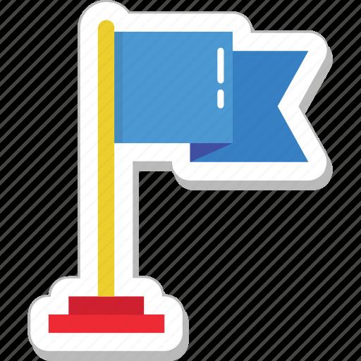 Destination, emblem, ensign, flag, location flag icon - Download on Iconfinder