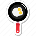 breakfast, cooking, egg, frypan, omelette icon
