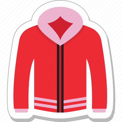 clothing, hoodie, jacket, pullover, winter icon