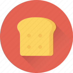bakery food, bread, breakfast, staple food, wheat food icon
