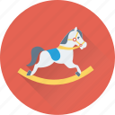 childhood, childish accessory, fun toy, rocking horse, toy icon