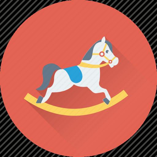 childhood, childish accessory, fun toy, rocking horse, toy icon