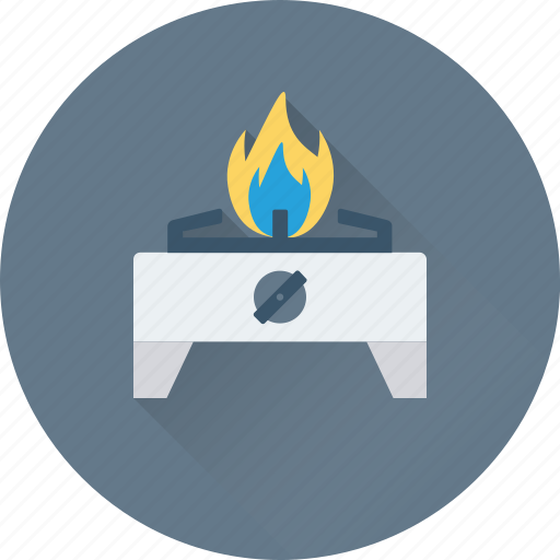 burner, cooking, flame, kitchen, stove icon