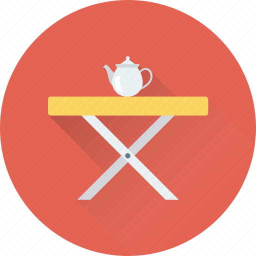 break time, dining, furniture, table, tea icon