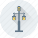 lamps, lights, night lamp, road lights, street lights icon
