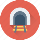 freeway, rail tunnel, rail underpass, road tunnel, way icon
