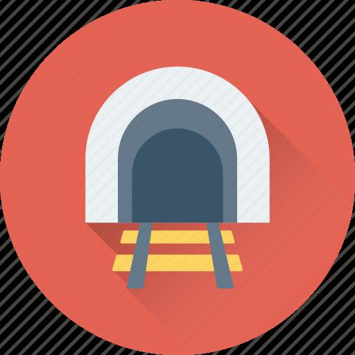 freeway, rail tunnel, rail underpass, road tunnel, way icon