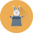 magic, magic show, magic trick, magician hat, rabbit icon