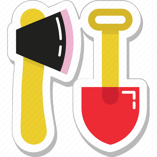 axe, cutting, garden tools, spade, tools icon