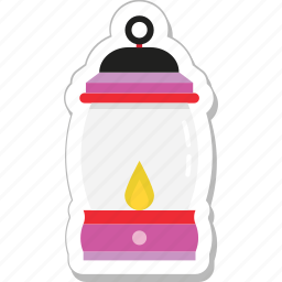 candle, fire, flame, lantern, light icon