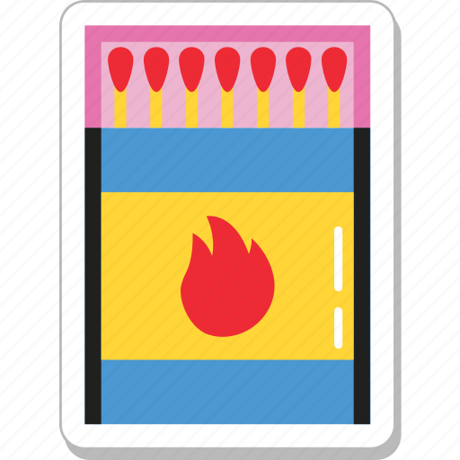 fire, flame, kitchen, matchbox, matches icon