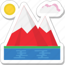 hills, landscape, mountain, nature, peaks icon