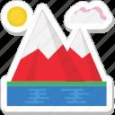 mountain, nature, peaks, landscape, hills