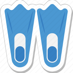 diving, diving fins, flippers, scuba fins, swimming icon