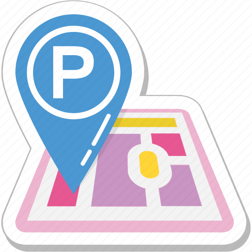 car parking, gps, map pin, parking, placeholder icon