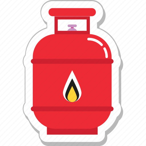 cylinder, fire, flame, gas cylinder, gas tank, oxygen icon