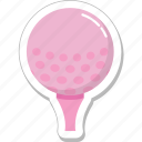 ball, game, golf, golf tee, sports icon