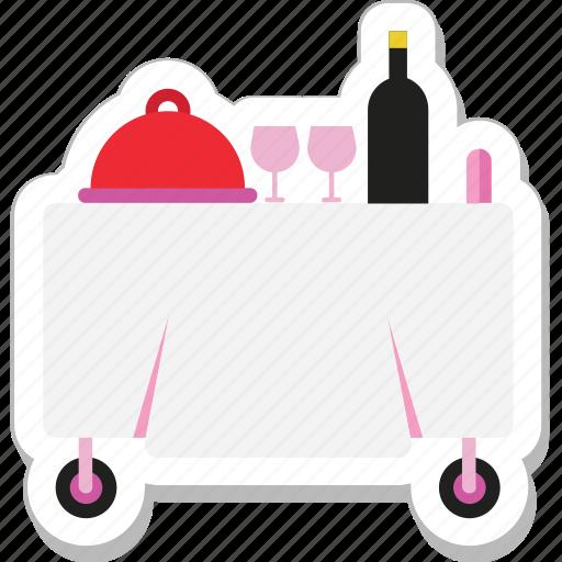 food, food trolley, platter, restaurant, trolley icon