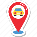 car parking, gps, map pin, parking, placeholder icon