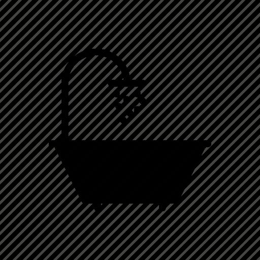 bath, douche, shower, tub, water icon