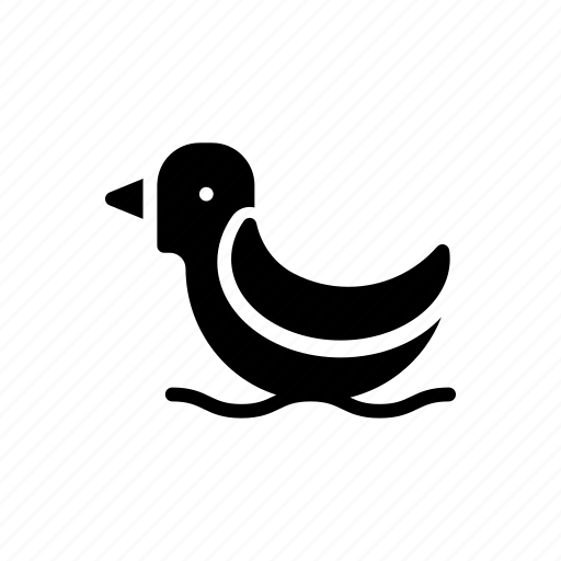 animal, duck, swimming, toy, water icon