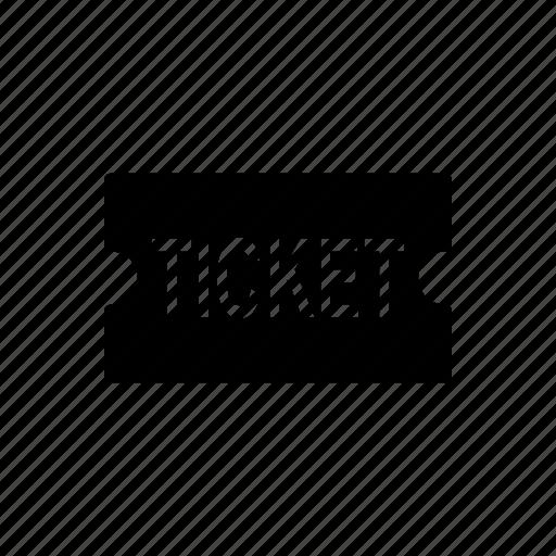cinema, film, movie, receipt, ticket icon