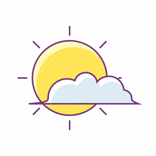 and, cloud, holiday, summer, sun, sunny, weather icon