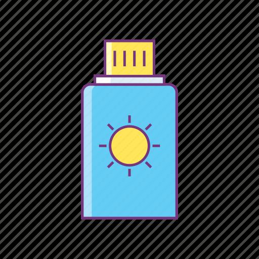 beach, bottle, lotion, spf, summer, sun, sunblock icon