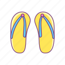 beach, flip flop, footwear, sandal, summer, sunny, vacation icon