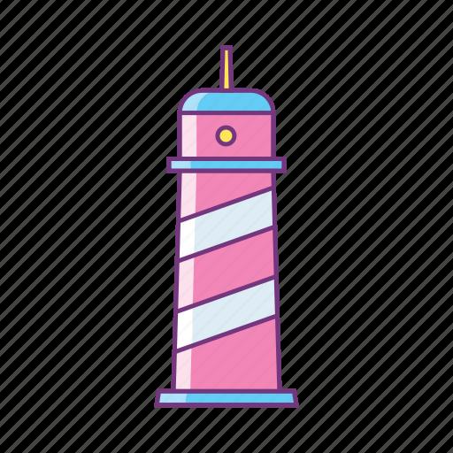 beach, building, coast, lighthouse, safety, sea, summer icon
