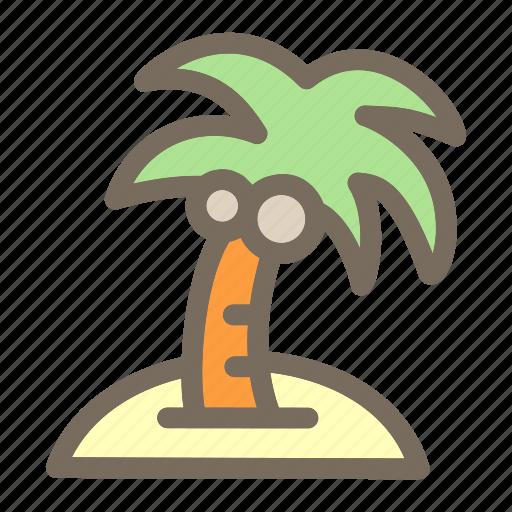 coconut, plam, summer, tree, vacation icon