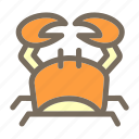 animal, crab, summer, vacation icon