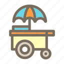 cart, cream, ice, summer, vacation icon