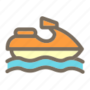 jetski, summer, vacation icon