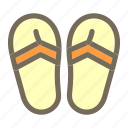 sandals, summer, vacation icon