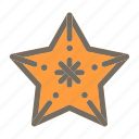 animal, starfish, summer, vacation icon