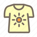 shirt, summer, t, vacation icon
