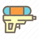 gun, summer, vacation, water icon