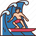 surfing, surfboard, beach, summer, surf, sea, sport