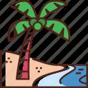 palm, tree, palm tree, beach, coconut tree, nature, summer