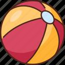 beach, ball, beach ball, game, summer, play, vacation