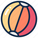 ball, beach, plastic, sea, summer, toy icon