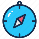 compass, direction, holiday, navigation, summer, travel icon
