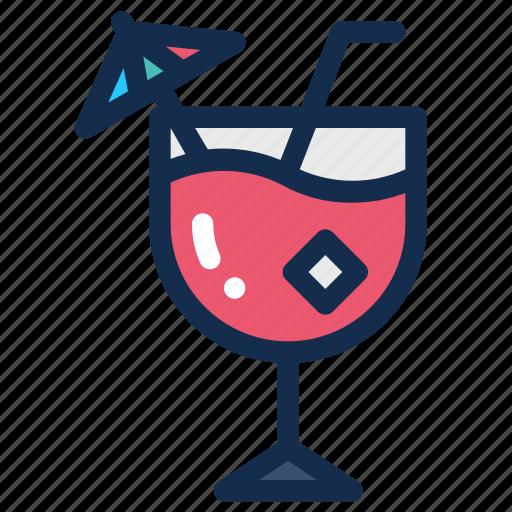 Beach, beverage, cocktail, drink, glass, ice, summer icon - Download on Iconfinder