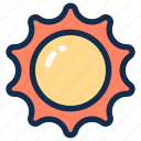 heat, summer, sun, sunlight, sunshine icon