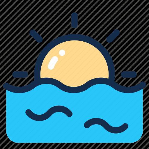 Sea, sky, summer, sun, sunrise, sunset icon - Download on Iconfinder