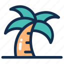 beach, coconut, palm, summer, tree, tropical