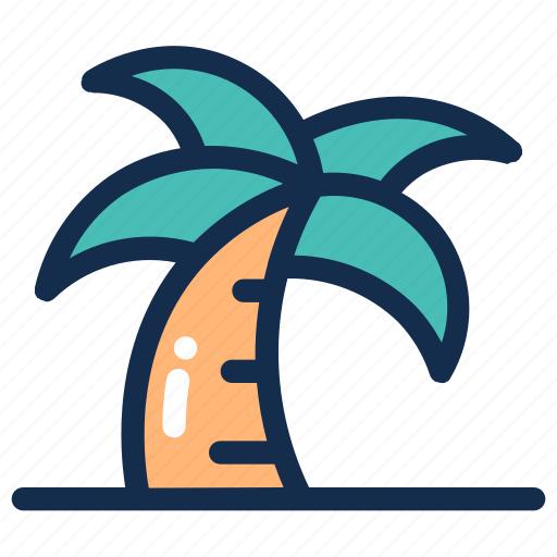 Beach, coconut, palm, summer, tree, tropical icon - Download on Iconfinder