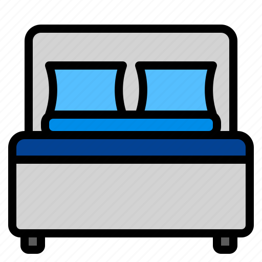 bed, bedroom, home, pillow, room icon